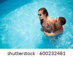 beautiful couple in love...   Shutterstock . vector #600232481