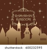 greeting card for ramadan with... | Shutterstock .eps vector #600232595