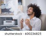 weekends concept. hipster man... | Shutterstock . vector #600236825