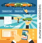online automobile rental... | Shutterstock .eps vector #600243341