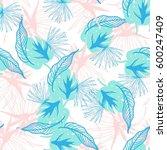 hipster tropical plants... | Shutterstock .eps vector #600247409