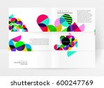 memphis geometric background... | Shutterstock .eps vector #600247769
