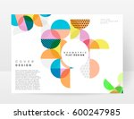 memphis geometric background... | Shutterstock .eps vector #600247985