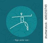 yoga school icon  linear logo...   Shutterstock .eps vector #600253745