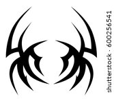 tattoo tribal vector designs... | Shutterstock .eps vector #600256541