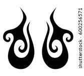 tribal designs. tribal tattoos. ... | Shutterstock .eps vector #600256571