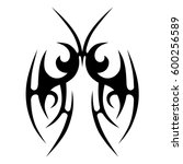tattoo tribal vector designs... | Shutterstock .eps vector #600256589