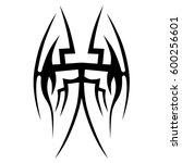tattoo tribal vector designs... | Shutterstock .eps vector #600256601