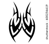 vector tribal tattoo designs.... | Shutterstock .eps vector #600256619
