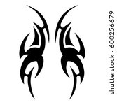 tattoo tribal vector designs.... | Shutterstock .eps vector #600256679