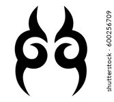tattoo tribal vector designs.... | Shutterstock .eps vector #600256709