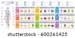vitamin rich food icons.... | Shutterstock .eps vector #600261425
