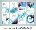 brochure  annual report  flyer... | Shutterstock .eps vector #600263411