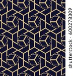 abstract geometric pattern with ... | Shutterstock .eps vector #600278309