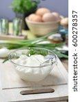mayonnaise in bowl   studio shot