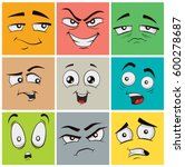 collection of funny cartoon... | Shutterstock .eps vector #600278687