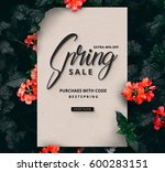 spring sale background poster   ... | Shutterstock . vector #600283151