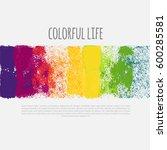 vector horizontal banner with... | Shutterstock .eps vector #600285581
