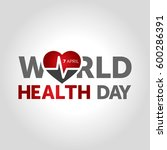 world health day | Shutterstock .eps vector #600286391