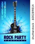 vector rock festival flyer...   Shutterstock .eps vector #600289814