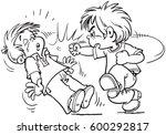 children fighting | Shutterstock .eps vector #600292817