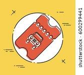 car or taxi ticket   vector web ...   Shutterstock .eps vector #600299441