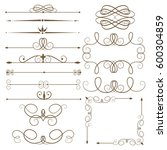 antique decorative elements ... | Shutterstock .eps vector #600304859