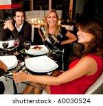 group of friends having dinner... | Shutterstock . vector #60030524