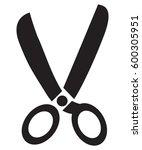 scissors icon | Shutterstock .eps vector #600305951