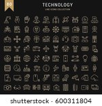 set  line icons in flat design... | Shutterstock . vector #600311804