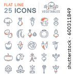 set  line icons in flat design... | Shutterstock . vector #600311849