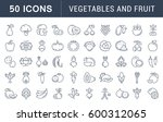 set  line icons in flat design... | Shutterstock . vector #600312065