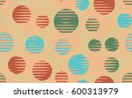 seamless pattern. halftone... | Shutterstock .eps vector #600313979