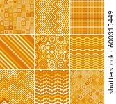 set with nine seamless abstract ... | Shutterstock .eps vector #600315449