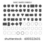 set of vintage frames  shapes... | Shutterstock . vector #600322631