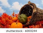 Autumn Harvest Scene On Sky...