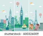 cities skylines design with... | Shutterstock .eps vector #600326009