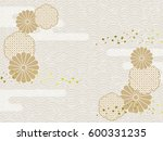 background image of japanese... | Shutterstock .eps vector #600331235