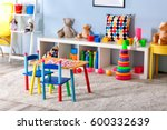 vivid kids room with toys | Shutterstock . vector #600332639
