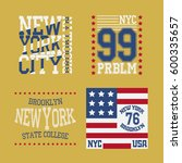 new york brooklyn typography... | Shutterstock .eps vector #600335657