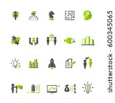 business training icon set | Shutterstock .eps vector #600345065