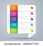 infographics design vector and... | Shutterstock .eps vector #600347714