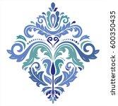 oriental vector pattern with... | Shutterstock .eps vector #600350435