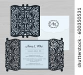 wedding invitation or greeting... | Shutterstock .eps vector #600350531