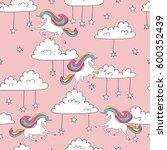 seamless unicorn pattern. magic ...   Shutterstock .eps vector #600352439