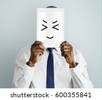drawing facial expressions... | Shutterstock . vector #600355841
