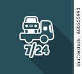 road assistance car 7 24  ... | Shutterstock .eps vector #600355991