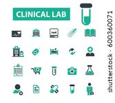 clinical lab icons | Shutterstock .eps vector #600360071