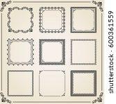 vintage set of vector elements. ...   Shutterstock .eps vector #600361559