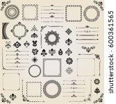 vintage set of vector... | Shutterstock .eps vector #600361565